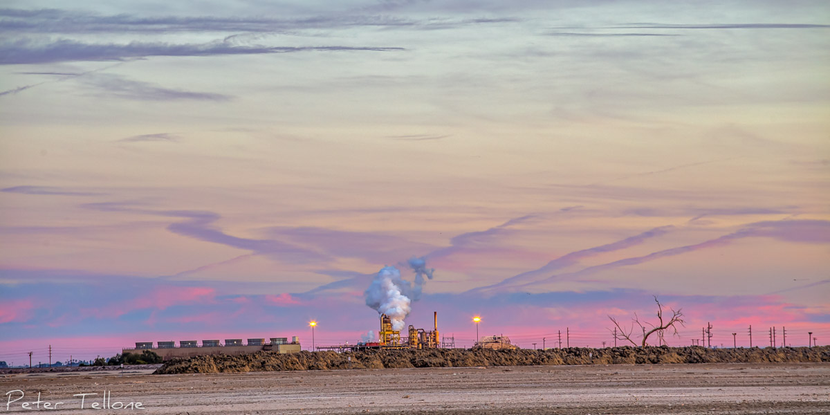 Even the Geo-Thermal plants look pretty at sunset
