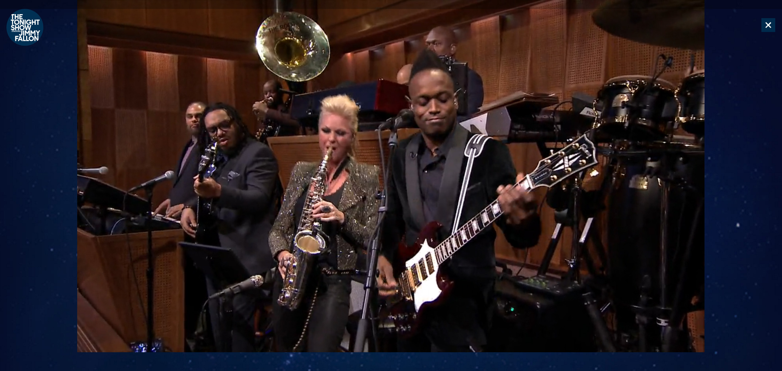 Mindi Abair with The Roots Tonight Show