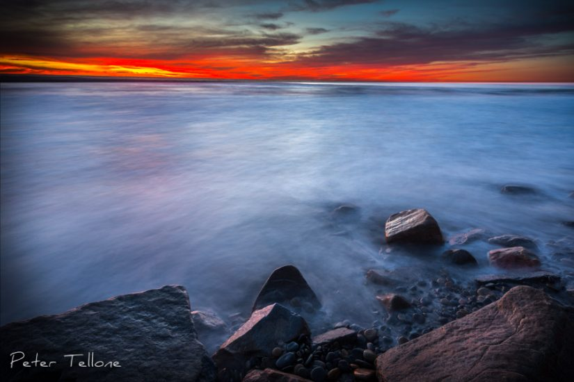North Ponto Beach, Carlsbad, California, Fine art prints, Waves, Sunset