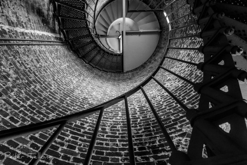 Cape Blanco, Lighthouse, Black and White, Fine Art prints, Staircase, Oregon, Oregon Coast