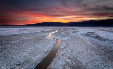 A salt Creek running through the Sal;t Flats at Death Valley National Park Fine Art print